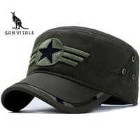 Men Fitted Army Hip Hop Cap Hat