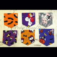 Customized Halloween Pocket Tee Sizes by PocketTeesandThings