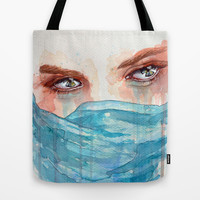 Forgotten, watercolor painting Tote Bag by Jane-Beata