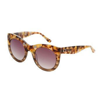 Guess Brown Uv2 Sunglass