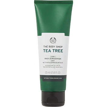 The Body Shop Tea Tree 3 in 1 Wash Scrub Mask | Ulta Beauty