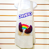 Oreo Chocolate Cookie Tshirt DressTank by DAUNLONDON on Etsy
