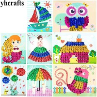 8PCS/LOT.DIY 3D shells cards craft kit Sequins arts Kindergarten crafts Early educational toys DIY toys Hand work Intelligence
