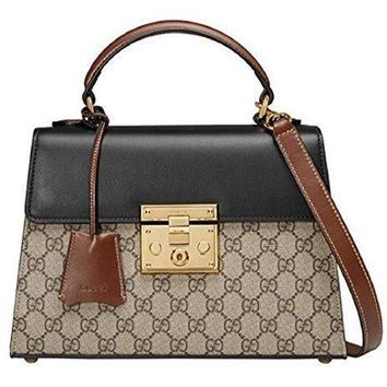 Gucci Women's Padlock Gg Supreme Pvc Classic Tote Bag #34981 - Best Deal Online