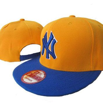 hcxx New York Yankees New Era MLB 9FIFTY Cap Golden-Blue