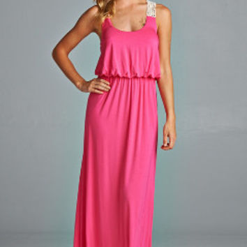 Pinking About You Maxi-Dress