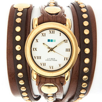 Brown Gold Bali Wrap Watch