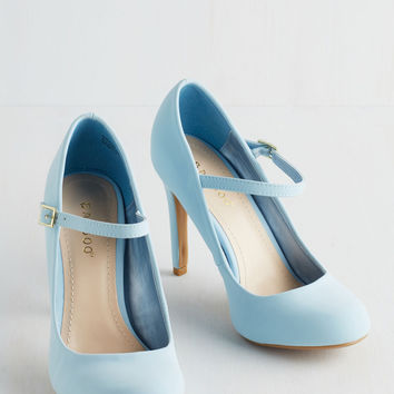 Shoe Had Me At Hello Heel in Sky | Mod Retro Vintage Heels | ModCloth.com