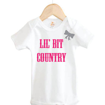 lil' bit country baby Onesuit // country Onesuit // baby girl Onesuit