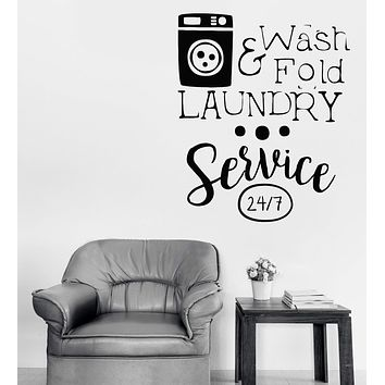 Vinyl Decal Wall Sticker Sign Laundry Dry Cleaning Service Washing Machine Unique Gift n899