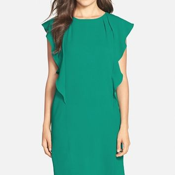 Women's BCBGMAXAZRIA 'Susi' Flutter Sleeve Shift Dress