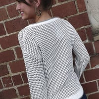 White & Gray Speckled Sweater | The Rage