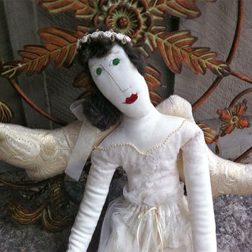 Angel Art Doll - Original Country Folk Art Angel Doll - Hand Crafted Angel - Art Doll