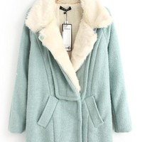 Fur Collar Slim Thickening Woolen Overcoat,Cheap in Wendybox.com