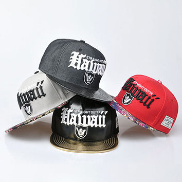 Straight Outta Hawaii Snapback Cap