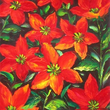 Red Petals of Joy Oil Painting
