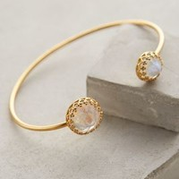 Gallantry Moonstone Cuff by Heather Hawkins Gold One Size Jewelry