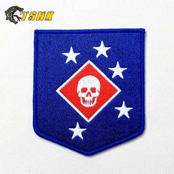"TSNK Military Enthusiasts Embroidery Patch Army Tactical Boost Morale Badge ""USMC/MARINE RAIDERS"" MARSOC"