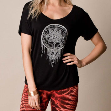 Lotus Dreamcatcher Slouchy Tee