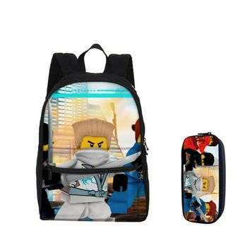 Girls bookbag 2018 VEEVANV LEGO Ninjago Printing Children School Backpacks Fashion  Pencil Case Small Boys Laptop Shoulder Bags AT_52_3