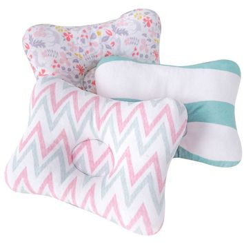 Muslinlife Bedding Sleep Baby Pillow Soft Cotton Kids Cushion Pillow Head Protection Shaping Pillow Room Decoration Dropship