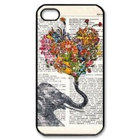 EVERMARKET(TM) Elephant Design Hard Case Cover Skin for iphone 4 4s