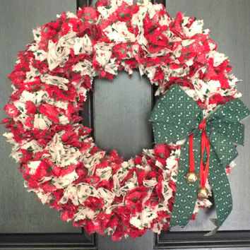 Vintage Rag Christmas Wreath