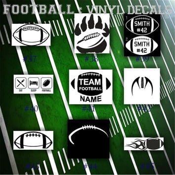 FOOTBALL vinyl decals - 37-45 - car sticker