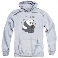 We Bare Bears Like Like Like Heather Adult Hoodie | CartoonNetworkShop.com