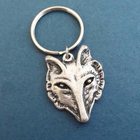 Wolf, Silver, Keychain, Animal, Key ring, Birthday, Best friends, Lovers, Christmas, New year, Gift, Jewelry, Accessory