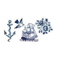 Tattly Nautical Set Temporary Tattoos Multi One Size For Women 27361495701