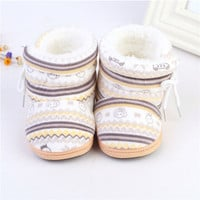Lovely  Warm Baby Shoes Cotton Padded Infant Toddler Baby Boys Girls Boots Soft born Bebe Boot