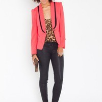 Shadow Tux Blazer - Coral - NASTY GAL