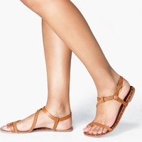 Ava Strappy Flat Sandal With Studs