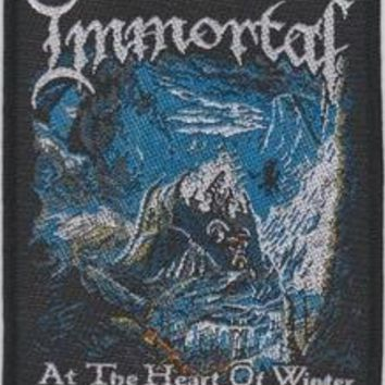 Immortal Sew On Patch At The Heart Of Winter Logo