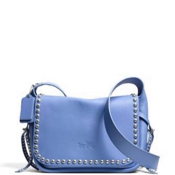 Coach Studded Rivets Dakotah Crossbody In Calf Leather