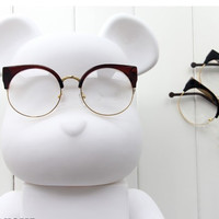 FCFO Vintage Brand Designer Cat Eye Glasses Women Frame Glasses Clear Lens Eyeglasses Frame Women oculos de grau feminino