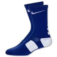 Nike Dri-Fit Elite Basketball Crew Socks Orchid Blue/White Medium Size Medium