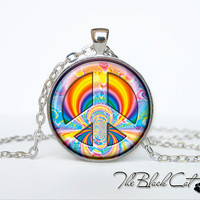 Hippie necklace Hippie pendant Hippie jewelry peace necklace peace jewelry peace pendant gift