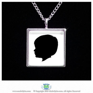 Custom Silhouette Pendant Necklace