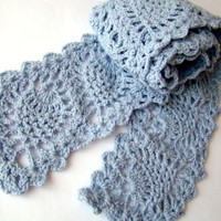 Handmade Crochet Pineapple Scarf - Ready for Shipping