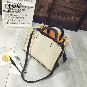 TTOU Women Fashion Shoulder Bag Large Capacity Handbag Pu Leather Tote Bag Female Commuter Bag Satchels Bag for Girls