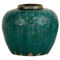 EMBELLISHED TURQUOISE JAR  | tabletop  | accessories  | Jayson Home & Garden