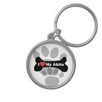 I Love My Akita - Dog Bone