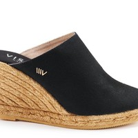 Estreta Canvas Clogs - Black