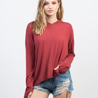 Hooded Pullover Top