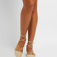 Pointed Toe Lace-Up Flats