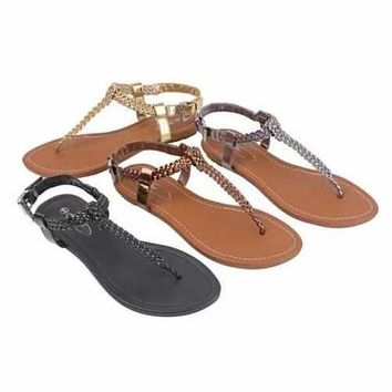 Greek Chic Knitted Sandals