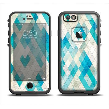 The Grunge Blue and Yellow Diamonds Panel Apple iPhone 6/6s LifeProof Fre Case Skin Set