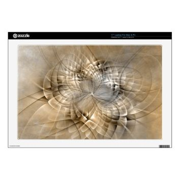 Earth Tones Abstract Modern Fractal Art Texture Laptop Decals